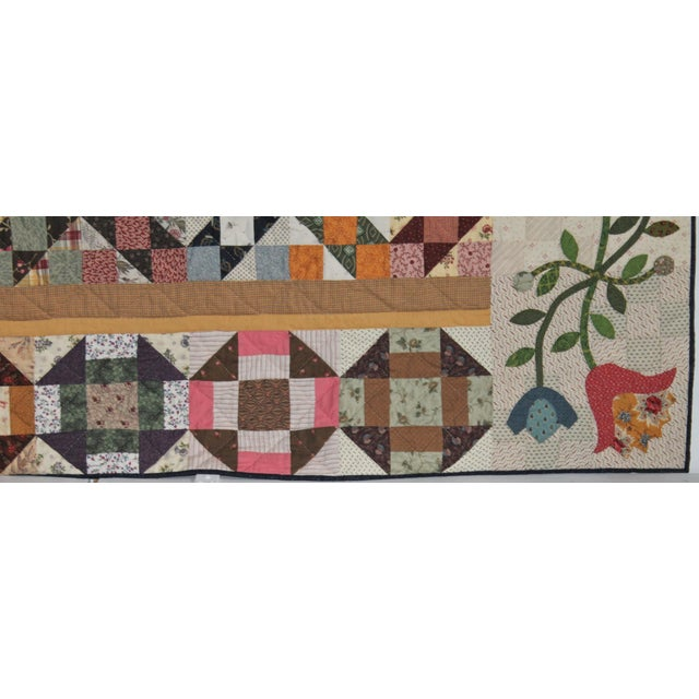 20th Century Amazing Center Star Medallion Quilt - Image 9 of 9