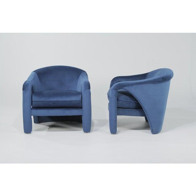 Blue 1970s Vintage Vladimir Kagan Indigo Sculptural Chairs - A Pair For Sale - Image 8 of 11