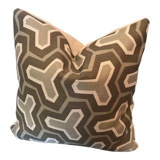 Custom Woven Printed Front and Solid Reverese Side Pillow For Sale