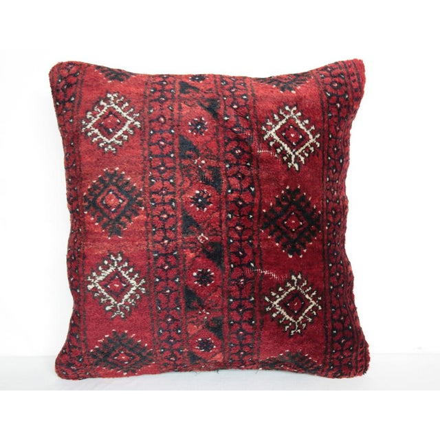 "This is beautiful Carpet pillow, it""s made from Old Turkoman rug. it has been soft washing before be come a pillow.The..."