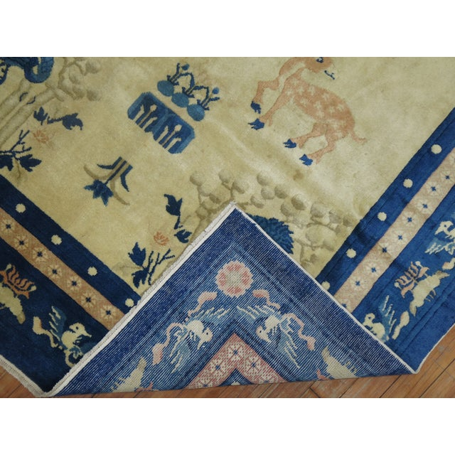 Antique Chinese Pictorial Elephant Rug, 4'9'' X 7'8'' For Sale - Image 9 of 13