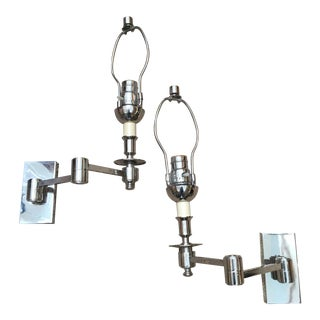1960s Swing Arm Sconces - a Pair For Sale