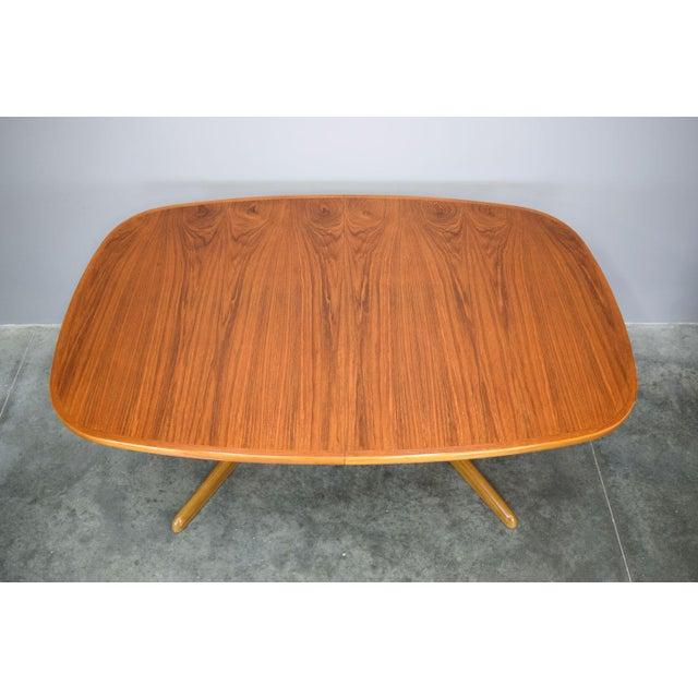 N.O. Møller N.O. Moller / Gudme Danish Teak Dining Table For Sale - Image 4 of 11