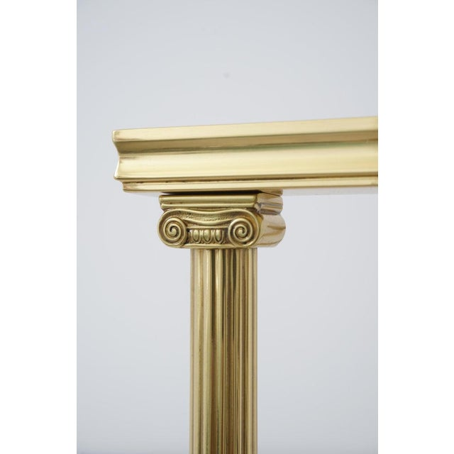 Mid-Century Adjustable Bookend Polished Brass Neoclassic Revival From Italy Book End For Sale - Image 9 of 12