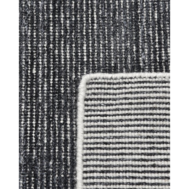 Contemporary Halsey, Contemporary Solid Hand Loomed Area Rug, Charcoal, 5 X 8 For Sale - Image 3 of 9
