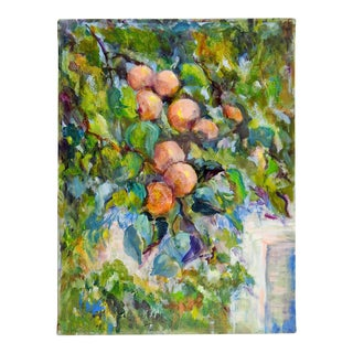 Impressionist Fruit Tree Oil Painting For Sale
