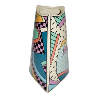 1980s Memphis Style Dorothy Hafner for Rosenthal 'Flash' Vase For Sale