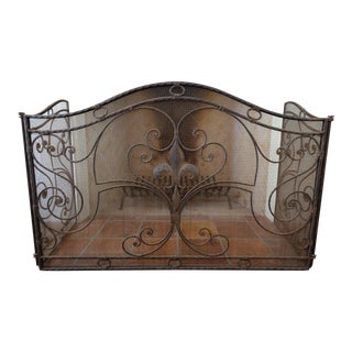 Antique Fireplace Screen For Sale
