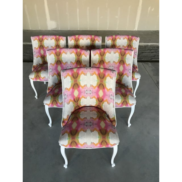 20th Century Dining Armless Side Chairs Scroll Foot Cabriolet Leg Drexel Touraine - Set of 6 For Sale - Image 13 of 13