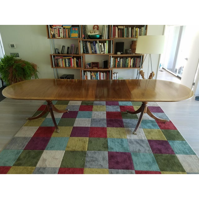 Blond Mahogany Expandable Dining Table For Sale - Image 4 of 8