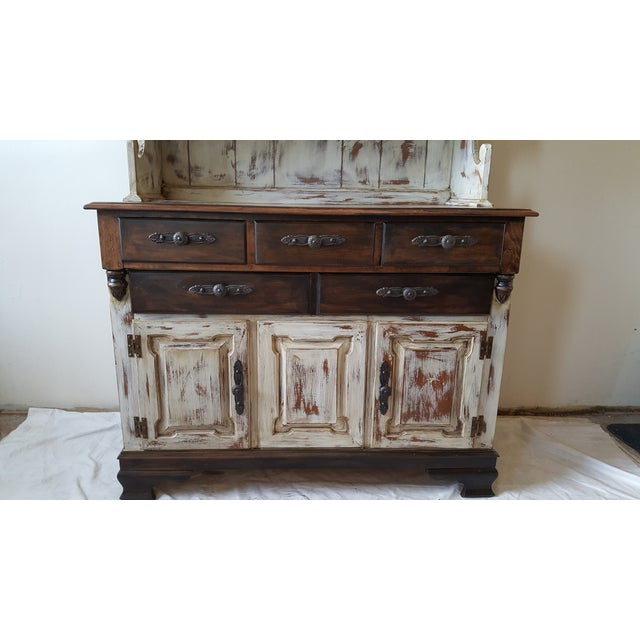 Shabby Chic Young Republic Brand Hutch / Buffet - Image 5 of 6