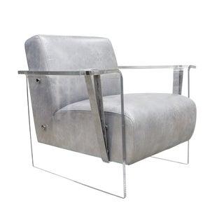 Modern Pasargad Home Elezanga Modern Lucite Armchair For Sale