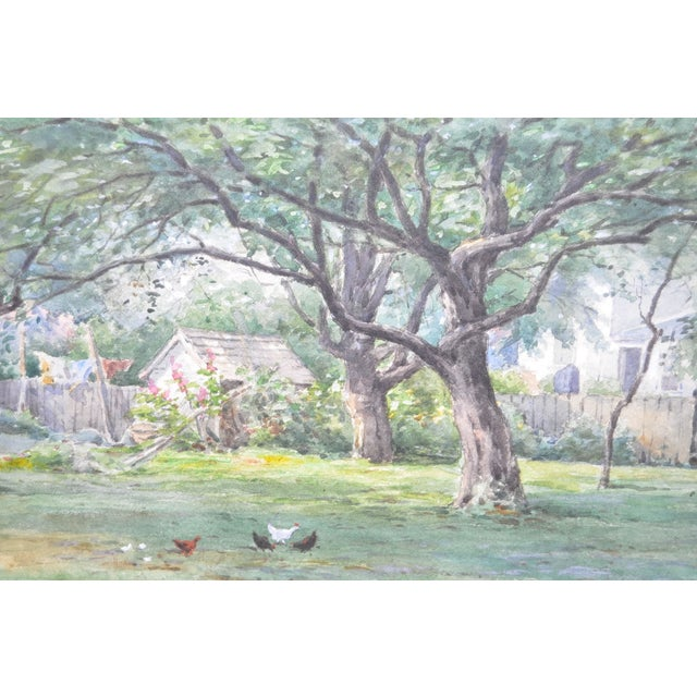 Country Watercolor by Frederick Stuart C.1900 For Sale - Image 3 of 6
