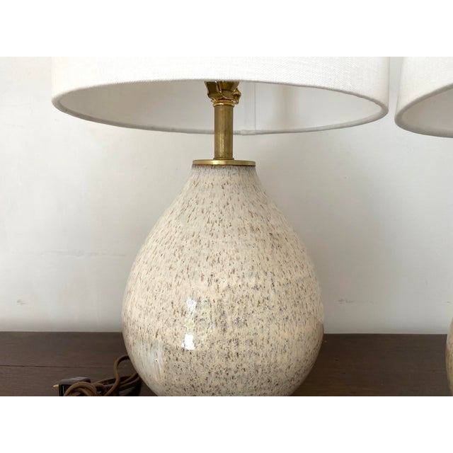 Organic Modern Handmade Ceramic Table Lamps - a Pair For Sale - Image 9 of 11