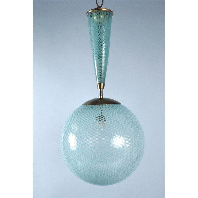Italian Italian Glass Sphere Lantern For Sale - Image 3 of 3