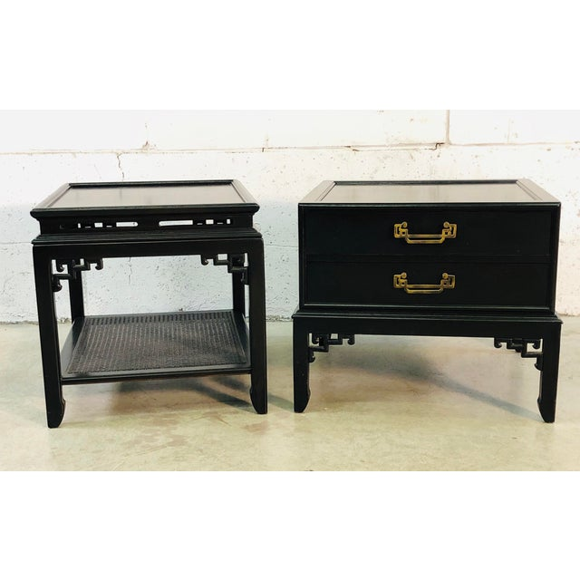 Vintage Hekman Furniture Asian Modern Side Tables, Pair For Sale - Image 13 of 13