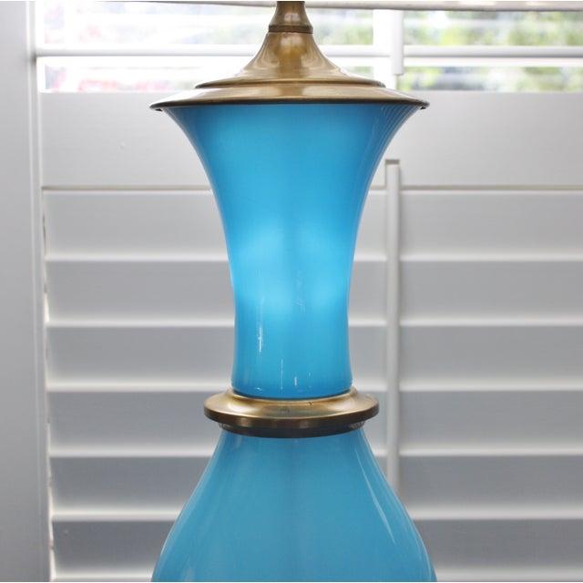Vintage Murano Opaline Blue Lamp - Image 11 of 11