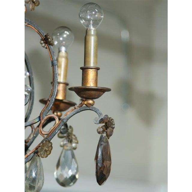 Jansen Bronze and Crystal Chandelier - Image 5 of 6