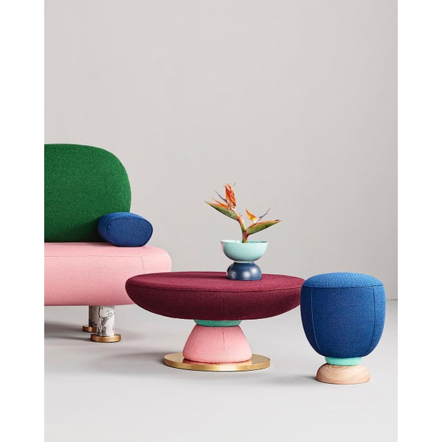 Masquespacio Toadstool Collection Ensemble Sofa, Table and Puffs, Masquespacio For Sale - Image 4 of 13