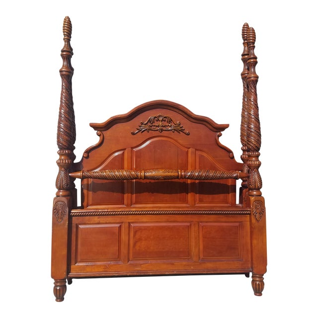 Solid Wood Queen Bed - Image 1 of 6