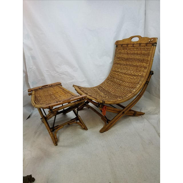 So cool! This sling shape rattan chair seat is removable from a collapsible chair base made of rattan and iron. The...
