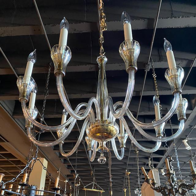 Mid 20th Century Czech Chandelier With Tulip Cups For Sale In Atlanta - Image 6 of 7