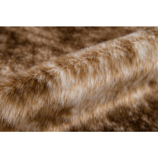 "Erin Gates by Momeni Acadia Brindle Brown Faux Hide Area Rug - 5'3"" X 7'10"" For Sale - Image 4 of 7"