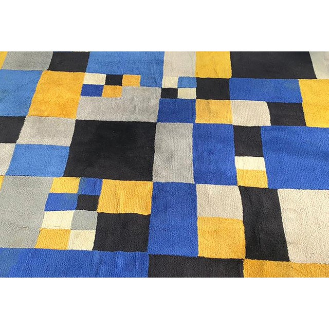 """Limited Edition Rug After Sonia Delaunay - """"Magical Squares"""" For Sale - Image 6 of 7"""