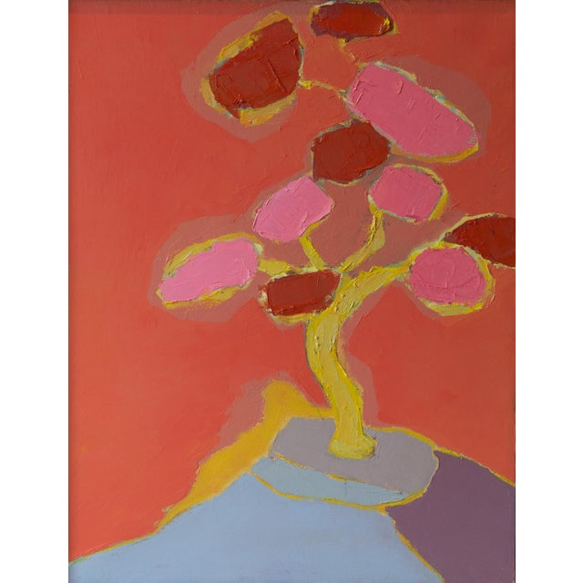 """Bill Tansey """"Blossom"""" Abstarct Floral Oil Painting on Canvas For Sale"""