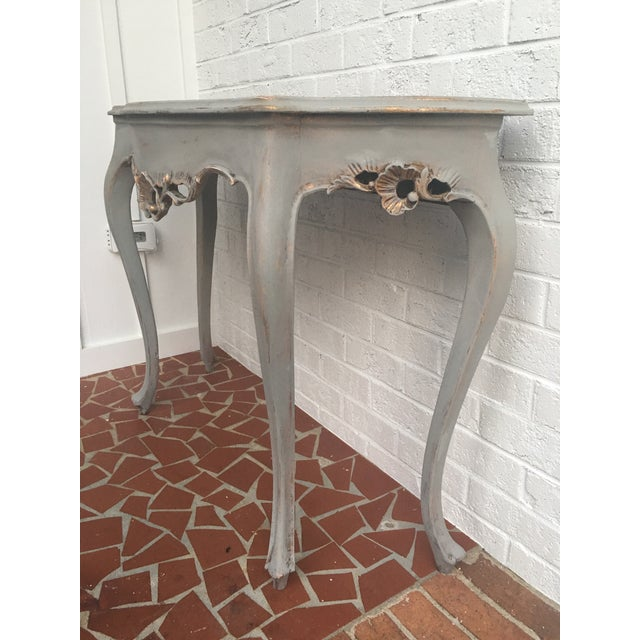 French Demilune Console Table With Gold Leaf - Image 3 of 7