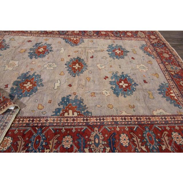 Apadana - Antique Persian Mahal Rug, 9' x 11' For Sale - Image 4 of 7