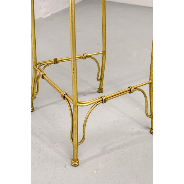 Mid-Century Italian Design Set of Gilded Forged Steel 'GOLD COBRA' Bar Stools, Set of Ten, 1970s For Sale - Image 10 of 13