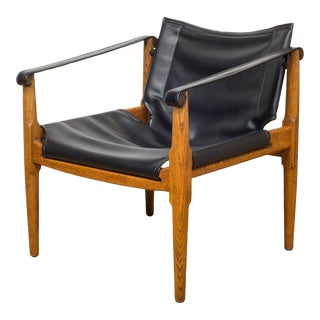 Mid Century Vintage Douglas Heaslett for Brown Saltman Sling Chair For Sale
