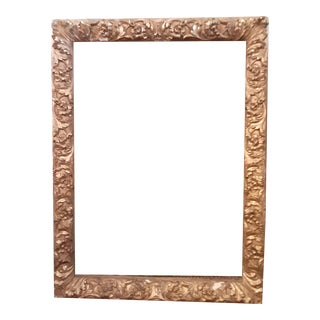 19th Century Barbizon Style Gilt, Gesso and Wood Frame For Sale