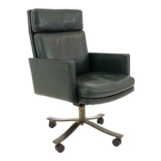 Mid Century ModernStow and Davis Green Office Desk Chair For Sale