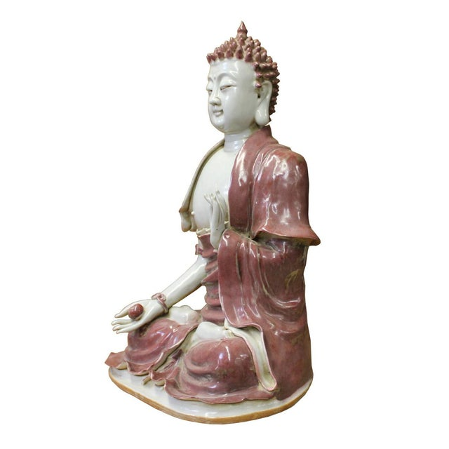 Vintage Chinese Sitting Buddha With Bowl Statue For Sale In San Francisco - Image 6 of 7