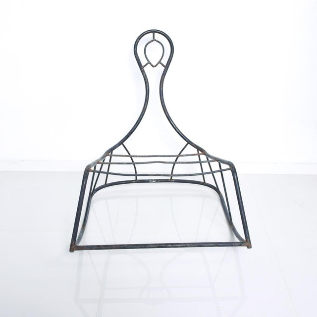 We are pleased to offer you a vintage rocker with sculptural shape in its original vintage unrestored condition. No...