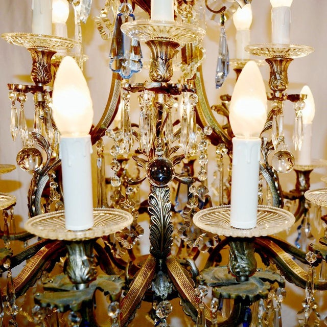 Blue Rococo Chandelier For Sale - Image 8 of 12