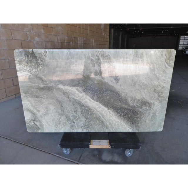 Willy Rizzo Italian Faux-Marble Rectangular Coffee Table C. 1970s For Sale - Image 4 of 12