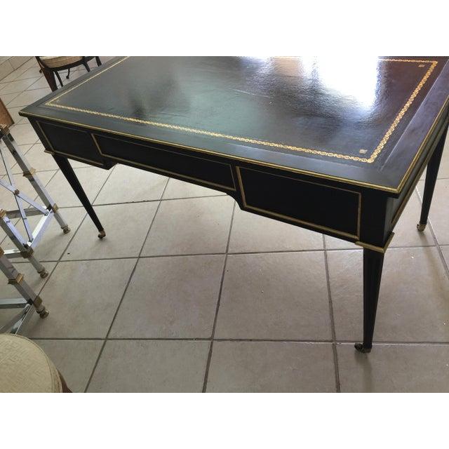 Baker Louis XVI Style Ebonized Gilt Writing Desk - Image 5 of 5