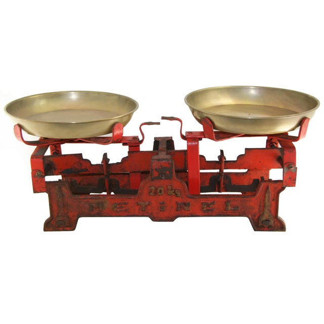 Islamic Vintage Table Scale | Large Red Scale For Sale - Image 3 of 3