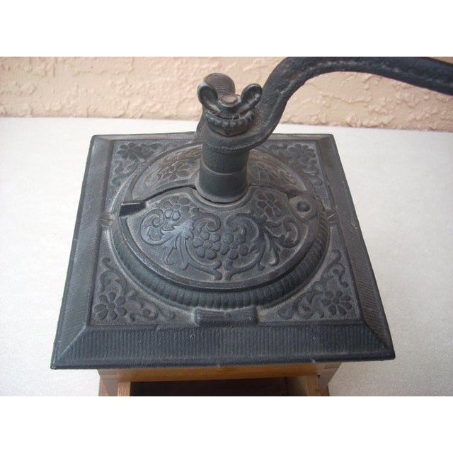 Antique Wood Coffee Mill - Image 4 of 5