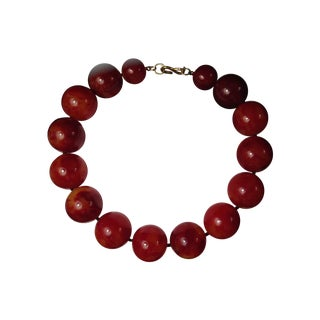 Kenneth Jay Lane Carnelian Choker Necklace