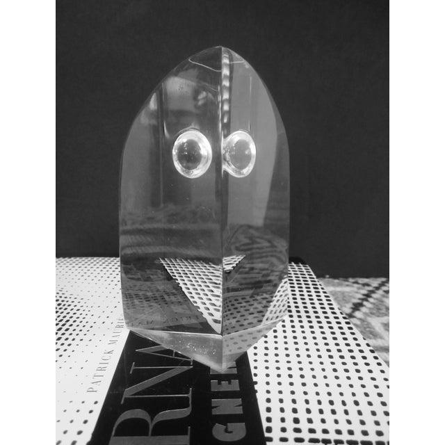 Mid Century Modern Lucite Owl - Image 7 of 7