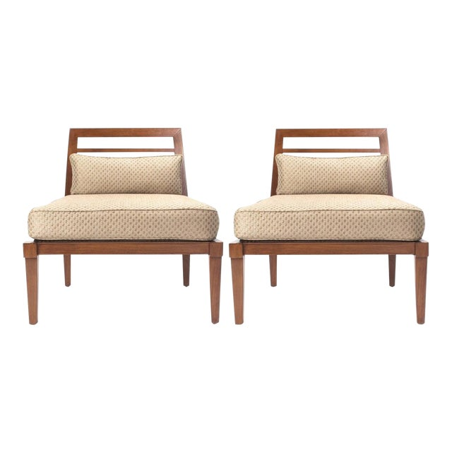 French Mid century Chairs in the Style of Andre Arbus For Sale