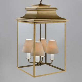 4 Candle Antique Brass Lantern Preview