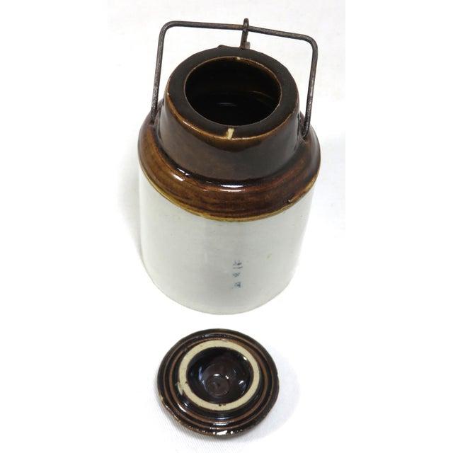 Antique American Stoneware Horsh Radish Jar For Sale - Image 10 of 13