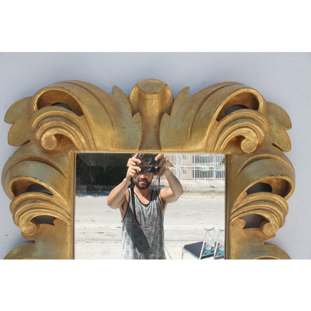 Dorothy Draper-Style Carved Wall Mirror - Image 7 of 11