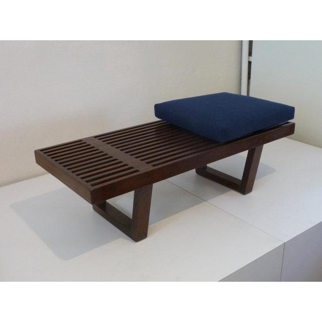 Mid Century Platform Bench For Sale - Image 4 of 5