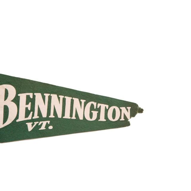 Large Green Bennington Vermont Felt Flag - Image 2 of 3